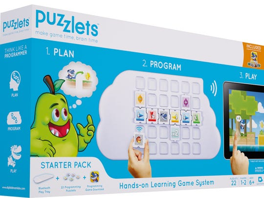 "The Puzzlets gaming system is being sold on Amazon for $99.99 and soon will be available in select Toys ""R"" Us stores."