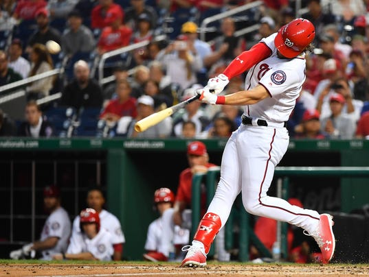 Mike Trout Hitting A Homerun Two of a kind: Bryce H...