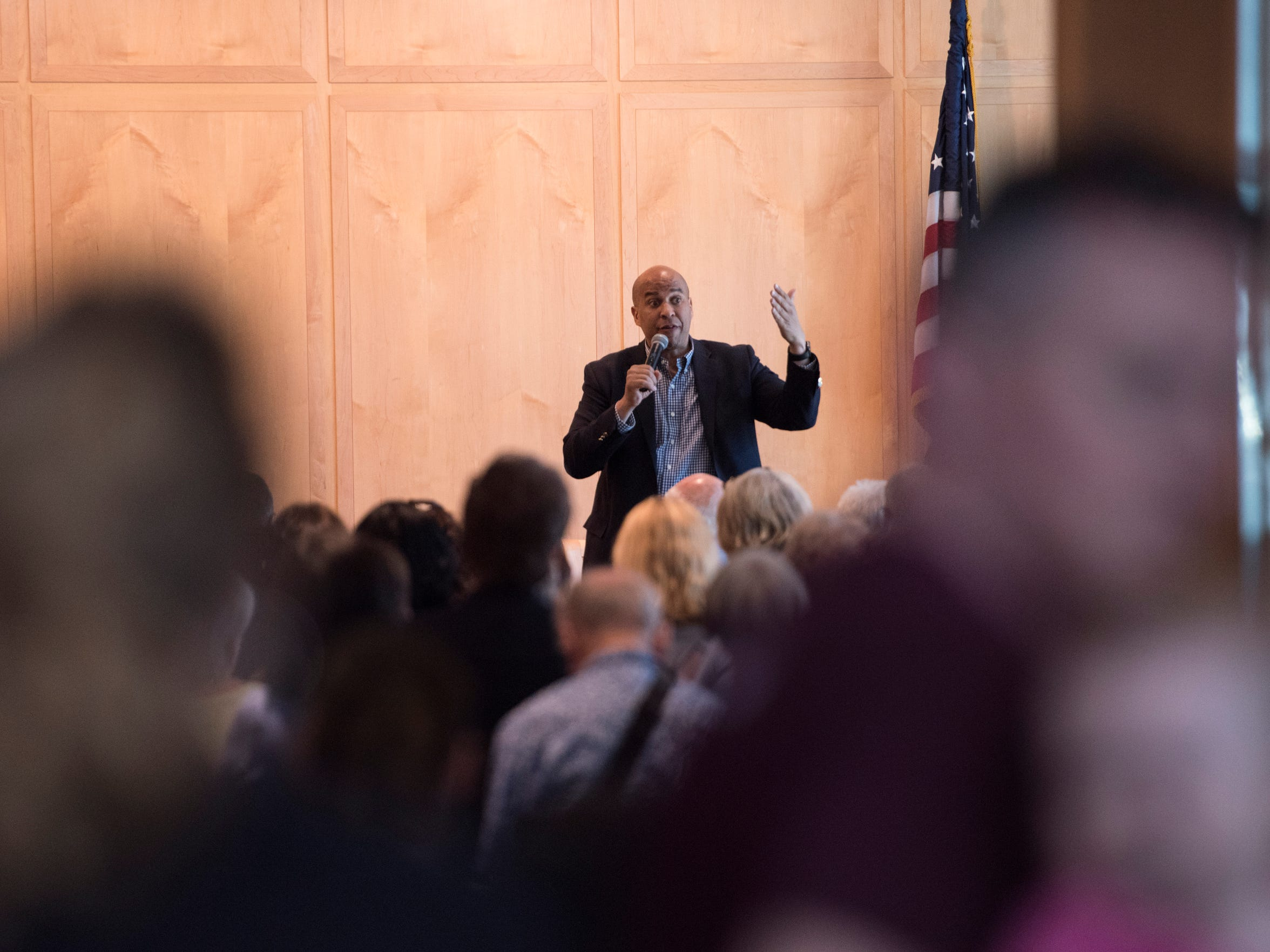 Senator Cory Booker speaking recently at the Princeton