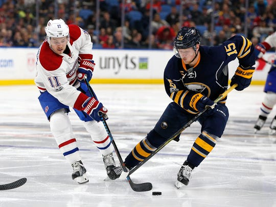 Jack Eichel of the Sabres did not score a goal in eight