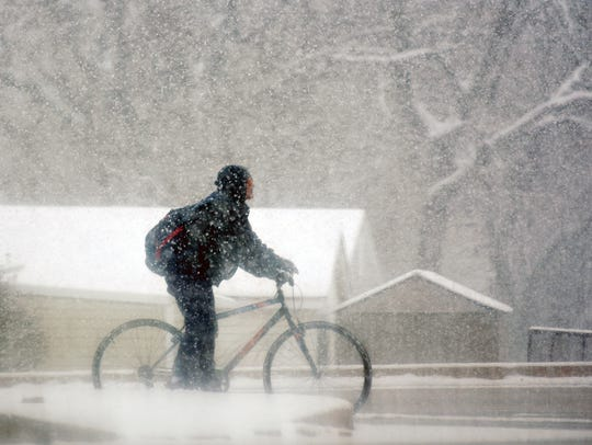 Snow continues through Winter Storm Toby in York, Tuesday,