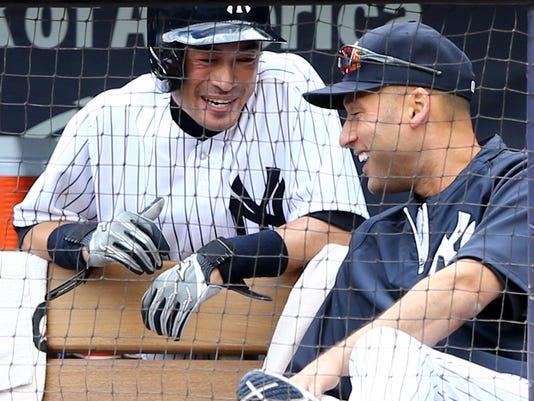 Yankees Derek Jeter and Ichiro Suzuki