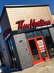 Tim Hortons is getting ready to open, shown here Wednesday,