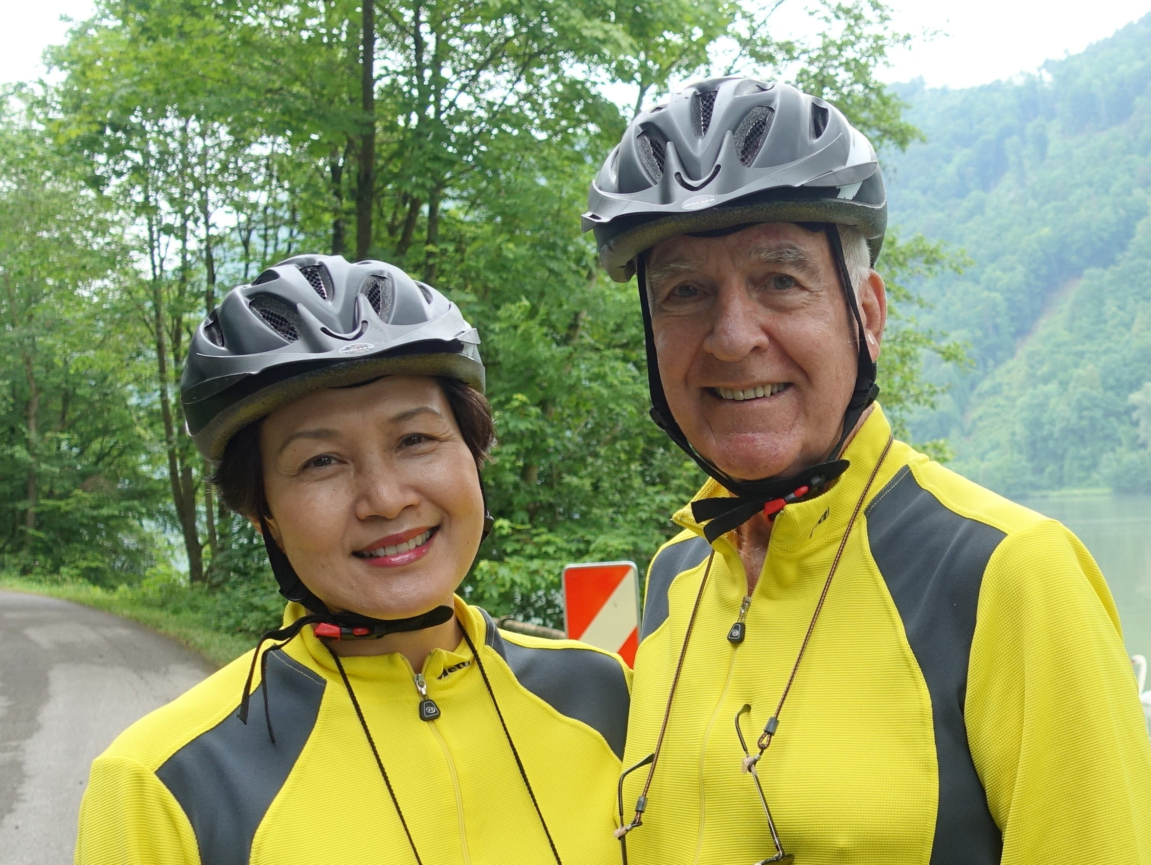 Pete Peterson and his wife, Vi, are avid bicyclists.
