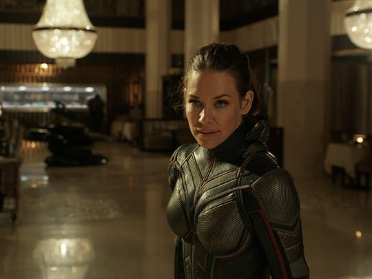 """Evangeline Lilly as The Wasp/Hope van Dyne in Marvel Studios' """"Ant-Man and the Wasp."""""""