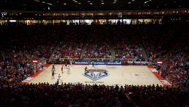 A view of The Pit, home of the New Meixco Lobos in Albuquerque.