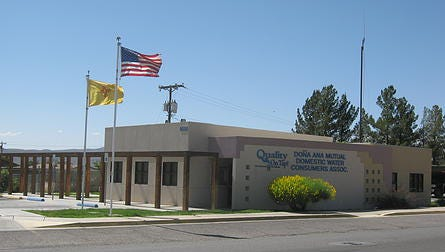 The headquarters of the Doña Ana Mutual Domestic Water Consumers Association is seen in the village of Doña Ana, north of Las Cruces.