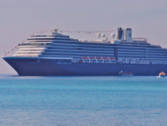 Shown as built, Holland America Line's 2004-built MV