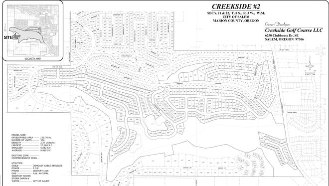 Creekside proposed site plan.