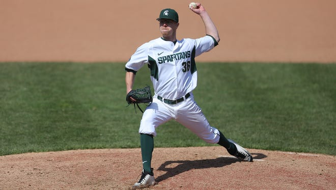 Pitcher Cam Vieaux signed with the Pittsburgh Pirates on Tuesday, bypassing his final season at MSU.