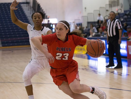 Saddle River's Micehlle Sidor drives to the basket