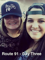 Jordyn Rivera, 21, and her mother in a social media post from the Route 91 Harvest festival in Las Vegas on Oct. 1, 2017.