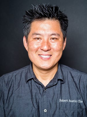 Robert Austin Cho, owner and chef of Kimchi Smoke Barbecue in Westwood
