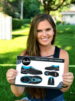 Kelly Duggan of New Berlin is one of five finalists in a national bowling shoe makeover contest.