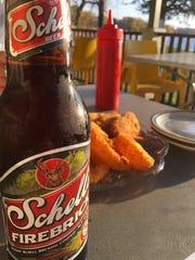 Sunfish chips, a cold beer, and a view of the lake.