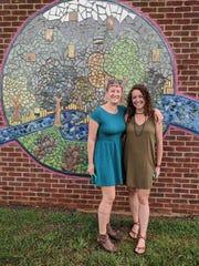Artist Jillian Hirsch and project manager Stephanie