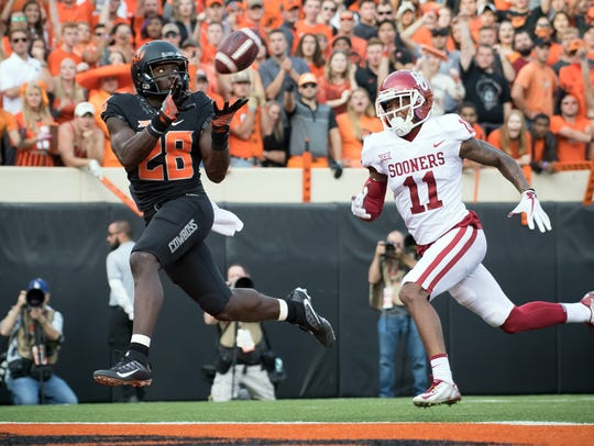 Oklahoma State Cowboys wide receiver James Washington