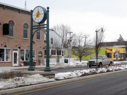 Marine City used money from a Tax Increment Financing Authority district to pay for a streetscape along Broadway Street.