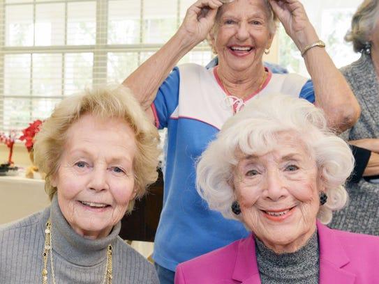 Mary McQueeney, left, Betty Jacobson and Margaret Schannen,