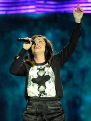 Kari Jobe performs at the 45th annual Gospel Music Association Dove Awards at Lipscomb's Allen Arena on Oct. 7, 2014, in Nashville.