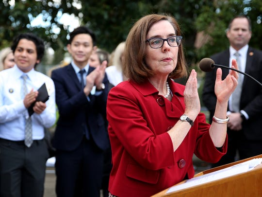 Gov. Kate Brown thanks those who helped get HB 4145