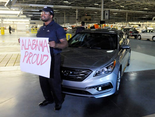 Hyundai unveils new look sonata in montgomery for Hyundai motor manufacturing alabama