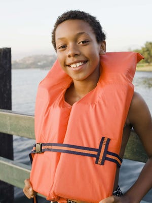 Yoke-style, near-shore life jackets will roll wearers to their backs and keep their faces out of the water.
