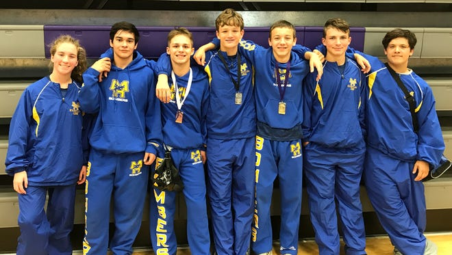 Mountain Home's junior varsity wrestlers competed at a tournament in Fayetteville on Saturday.