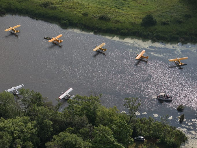 The seaplane base. Action from EAA AirVenture Oshkosh Tuesday, July 29, 2014.