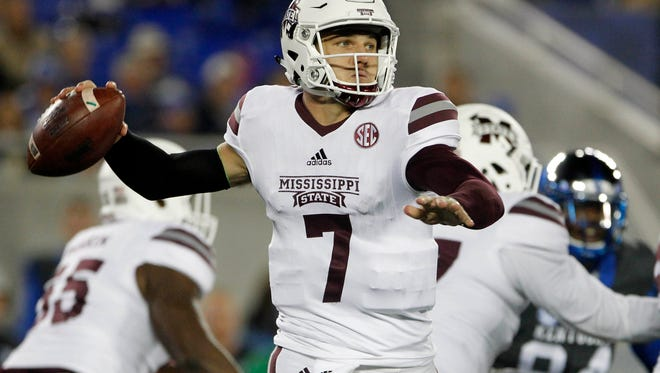 Mississippi State sophomore quarterback Nick Fitzgerald was one of many young faces who played for the Bulldogs against Kentucky.