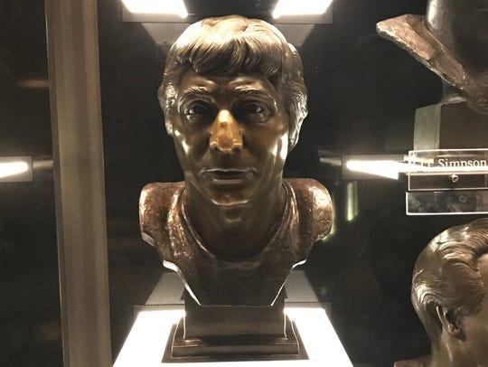 Joe Namath's Hall of Fame bust.
