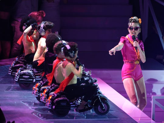 """Cyrus returned to the MTV VMAs stage in August 2017 to perform """"Younger Now."""""""