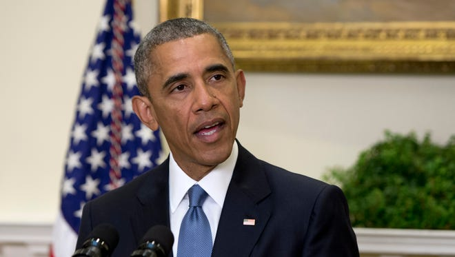 President Obama speaks in the Roosevelt Room of the White House on June 24, announcing the completion of the Hostage Policy Review. The president appointed a hostage envoy Friday.
