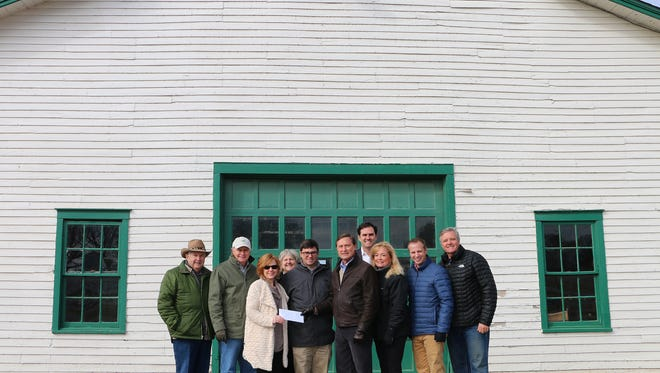 The Harlin family donated funds to the Friends of Franklin Parks for barn restoration on the Park at Harlinsdale property.