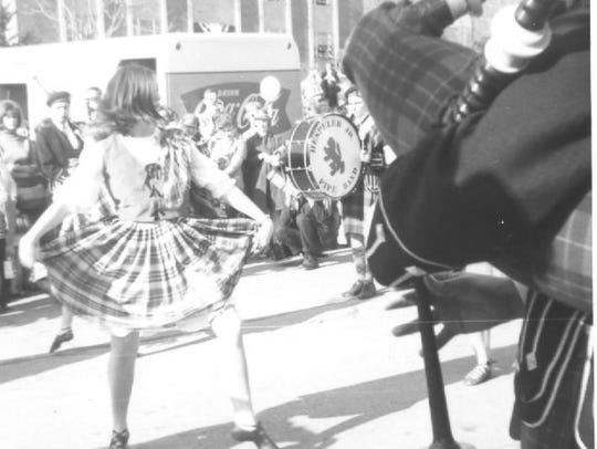 Bagpipers and wee dancers entertained during the 1968