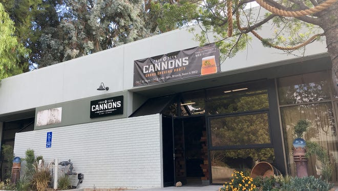 Rope draped in a tree outside 14 Cannons Brewery & Showroom in Westlake Village hints at the microbrewery's nautical heritage. It will mark its grand opening Oct. 6-8.