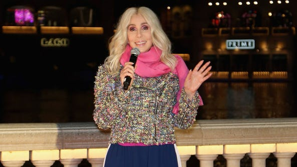 Actress/singer Cher unveils a new Fountains of Bellagio