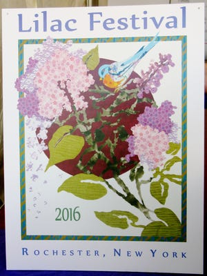 This year's poster by Diane Elmsley gives us a preview of what some lilacs will look like when they fully bloom.