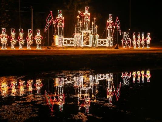 Christmas lights display in San Angelo