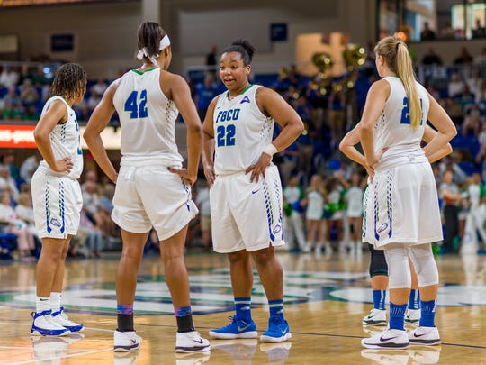 FGCU senior China Dow became a team favorite as soon as she arrived in Fort Myers following her transfer from Middle Tennessee.