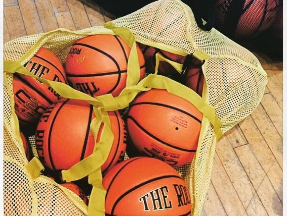 Seth Harrison/@sethharrison The official game balls for the New York State Section 1 High School #Basketball Championships at the #WestchesterCountyCenter. A week's worth of action starts this afternoon. #hshoops @lohud @lohudsports