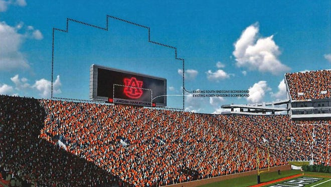 The Auburn board of trustees approved the initiation of a $6.3 million video board in the north end zone.