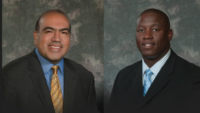 Jose Sigala, left, and Carlton Jones.