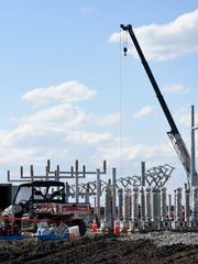 Construction on AEP regional distribution center in