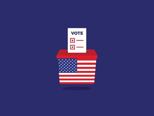 USA Election ballot vote box