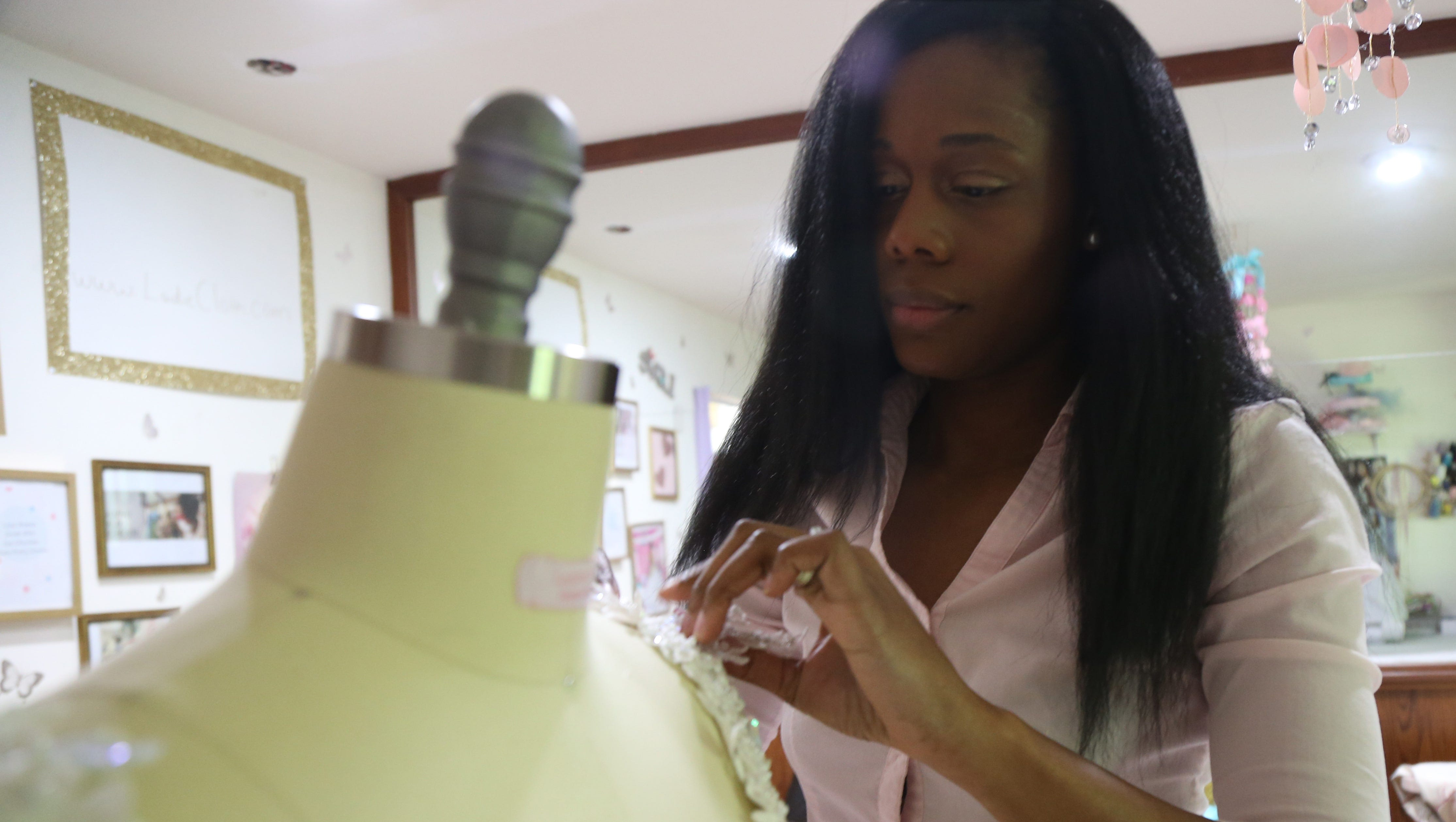 Clothes designer works from home: Jasmine Terry-Ankobil