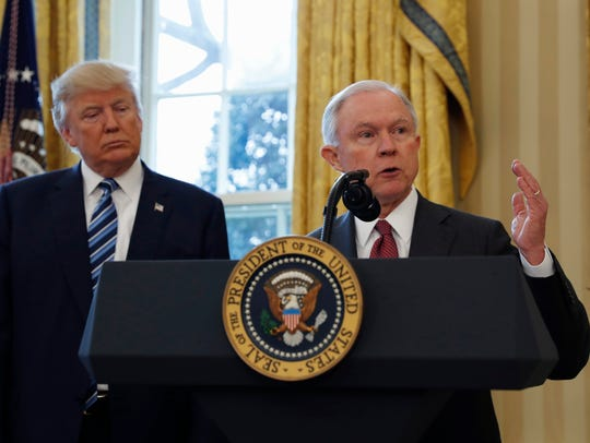 President Donald Trump and his attorney general, Jeff
