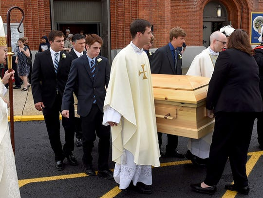 Funeral services for Msgr. Louis Melancon was held