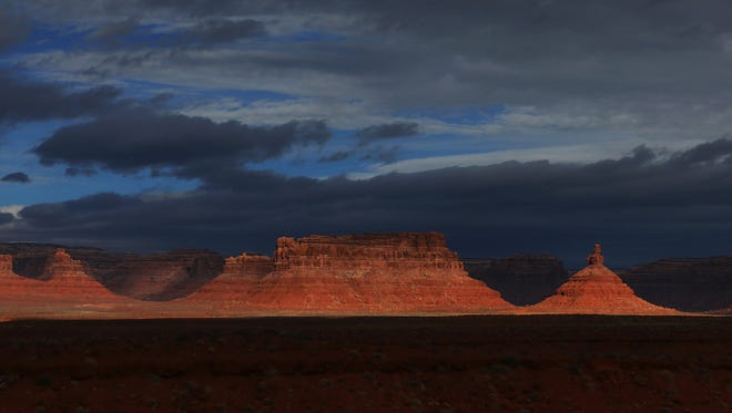 The Valley of the Gods is seen within the Bears Ears National Monument in southern Utah in November of 2017.