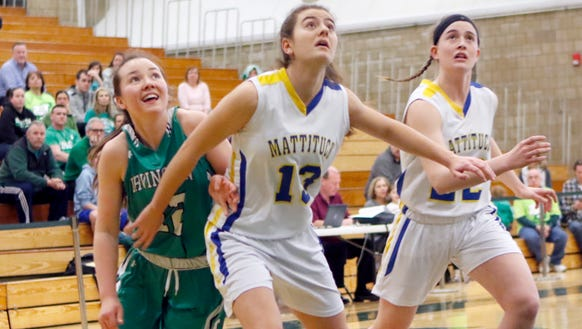 Irvington's Heather Hall (12) smiles as she is boxed
